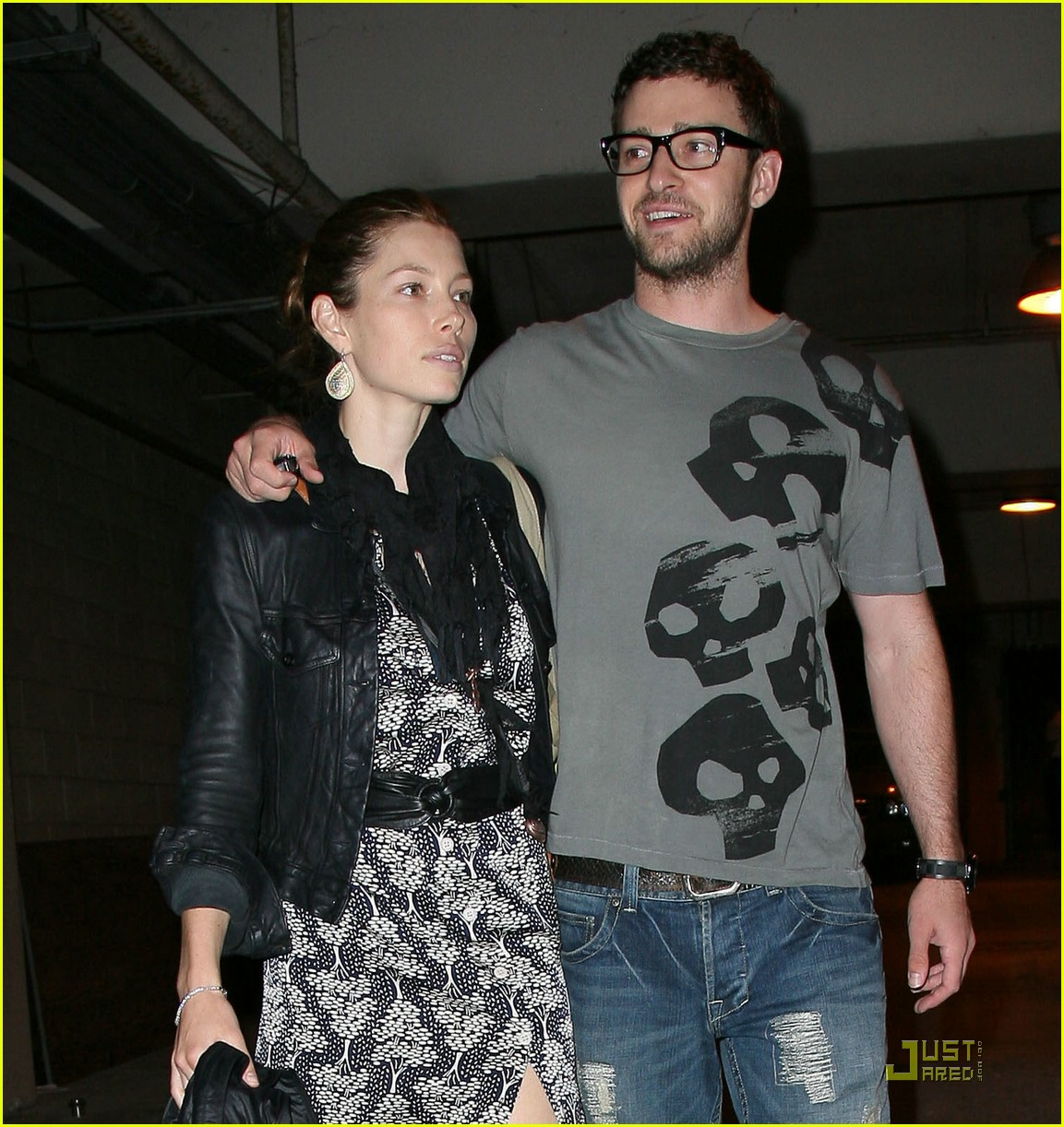 justin timberlake jessica biel hollywood bowl 09