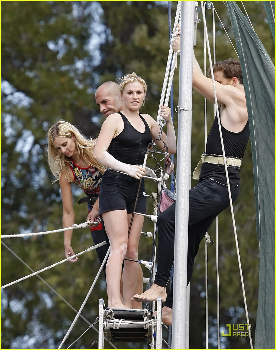 Anna Paquin Stephen Moyer Are Agile Acrobats