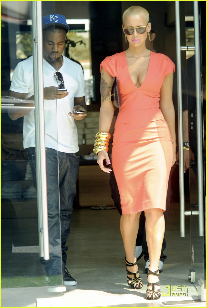 kanye west amber rose intermix 022184111