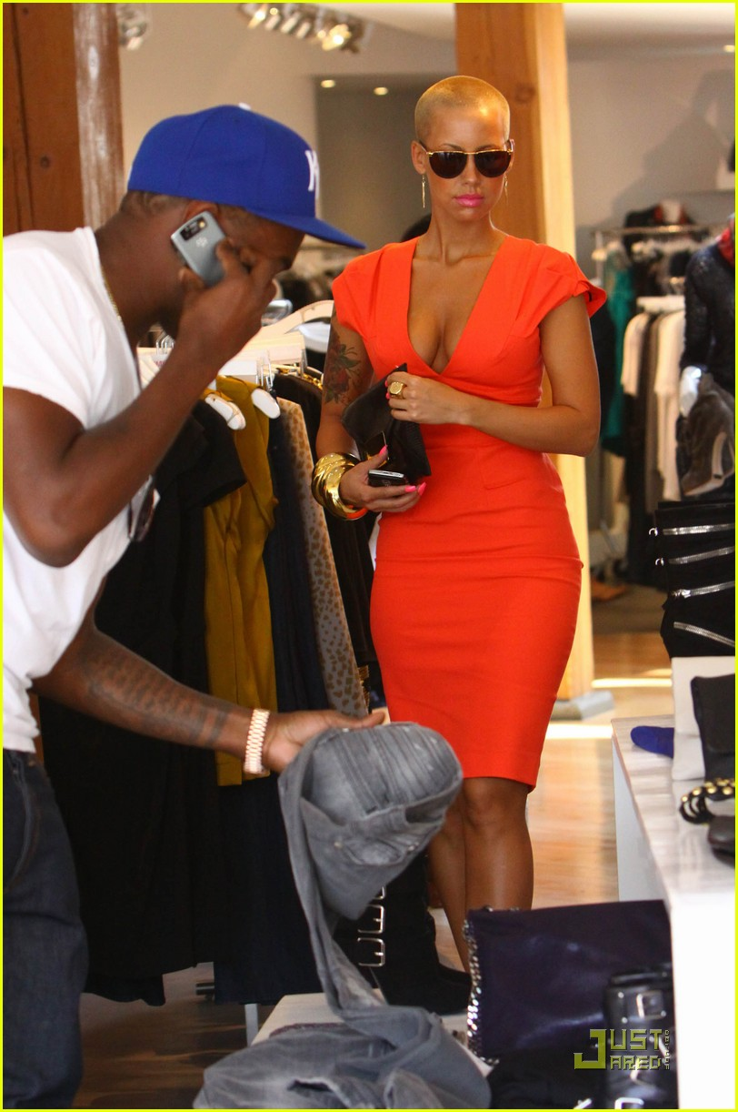 kanye west amber rose intermix 062184151