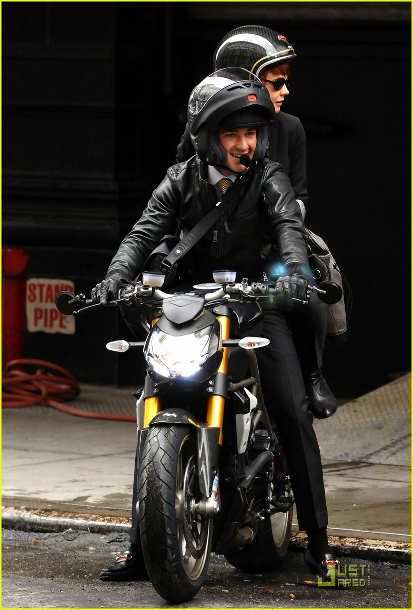 shia labeouf carey mulligan motorcycle 082219541