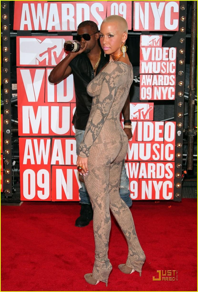Kanye West Amp Amber Rose Mtv Vmas 2009 Photo 2211552