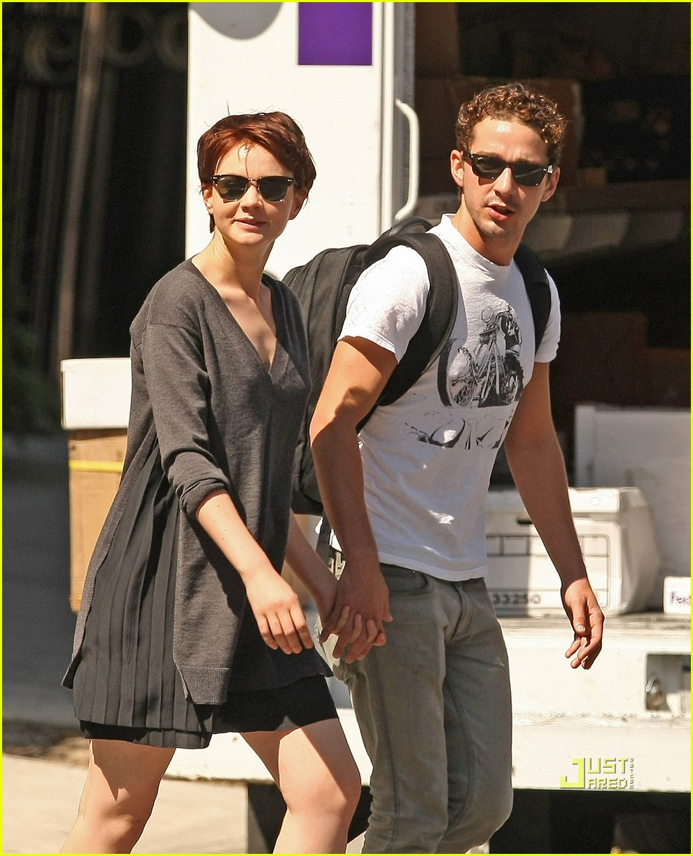 shia labeouf carey mulligan holding hands 072180591