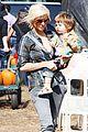 christina aguilera visits a pumpkin patch 12