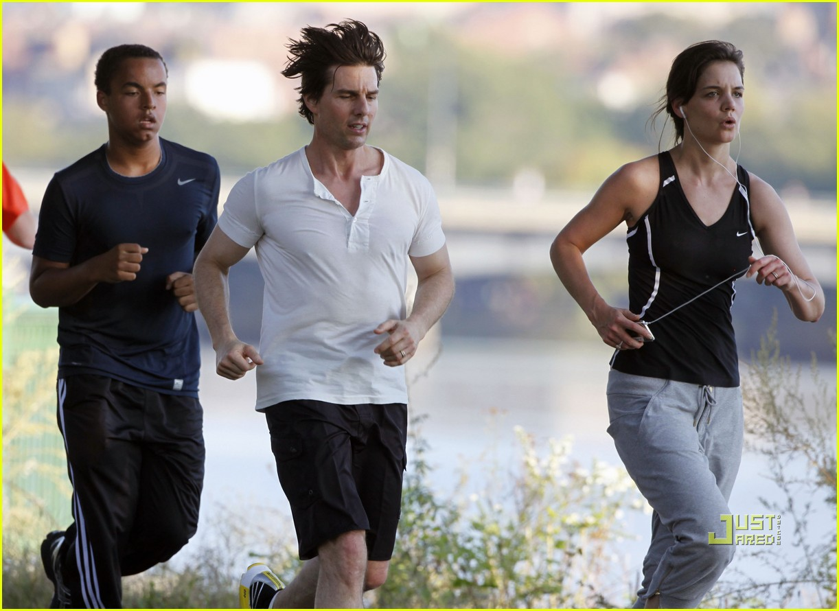 tom cruise katie holmes charles river run 222263691