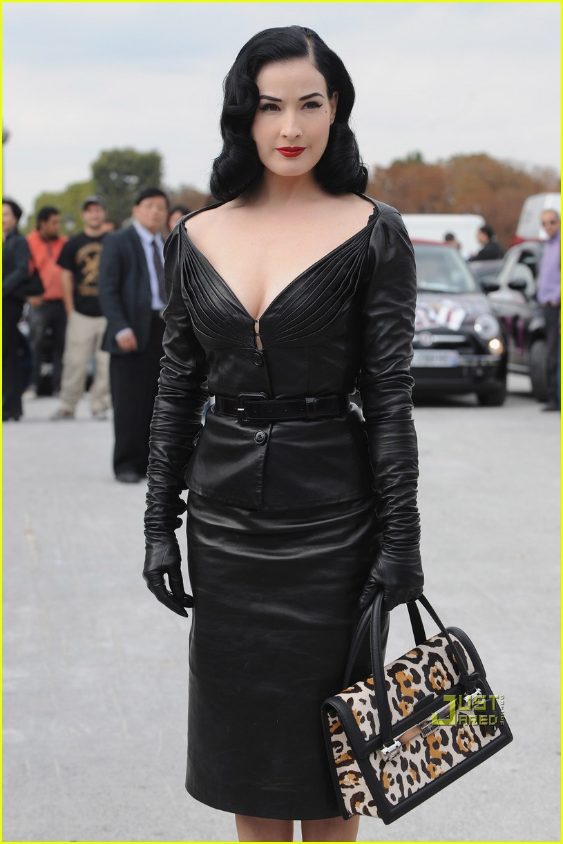 dita von teese domina leather dior 06