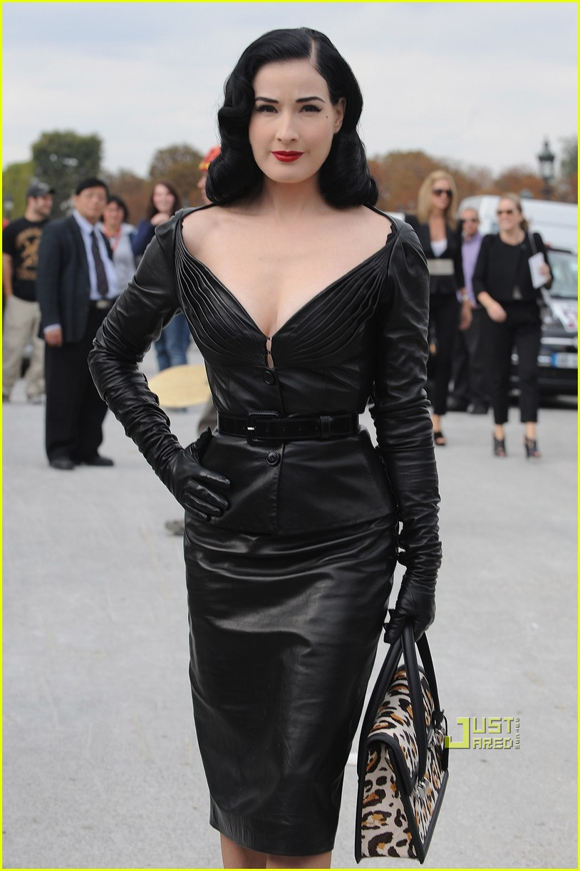 dita von teese domina leather dior 10