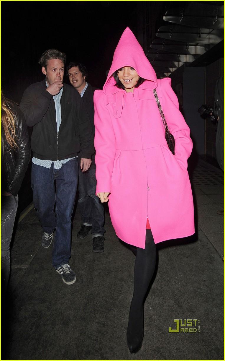 lily allen pink hood coat 052291842
