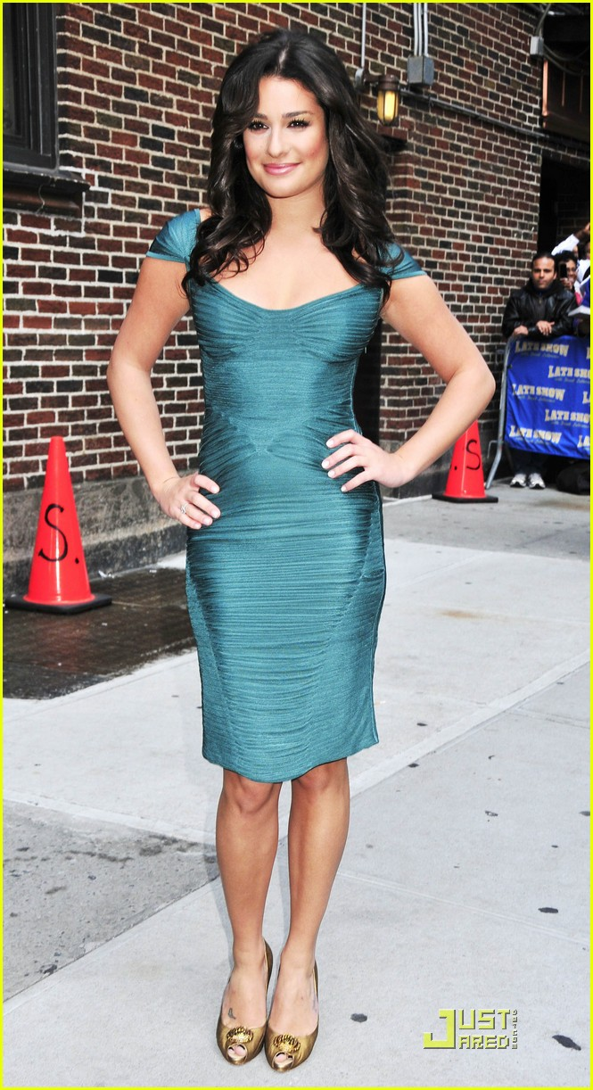 lea michele meets david letterman 062267092