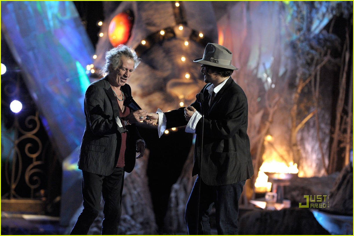 johnny depp keith richards rock immortal scream awards 08