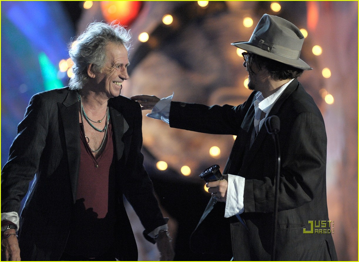 johnny depp keith richards rock immortal scream awards 09