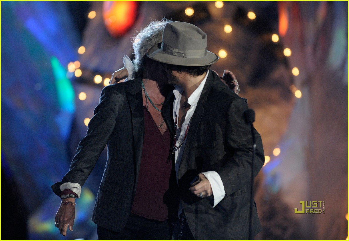 johnny depp keith richards rock immortal scream awards 12