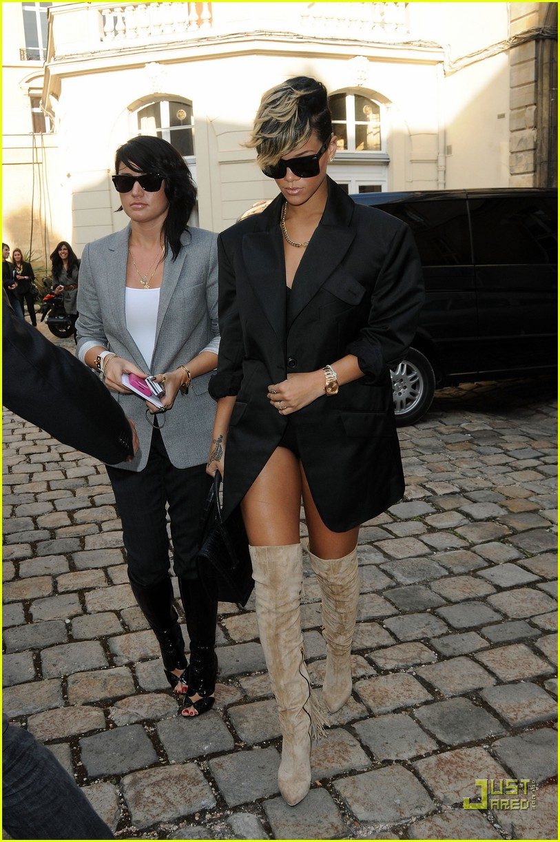 rihanna vivienne westwood paris fashion week 172259961
