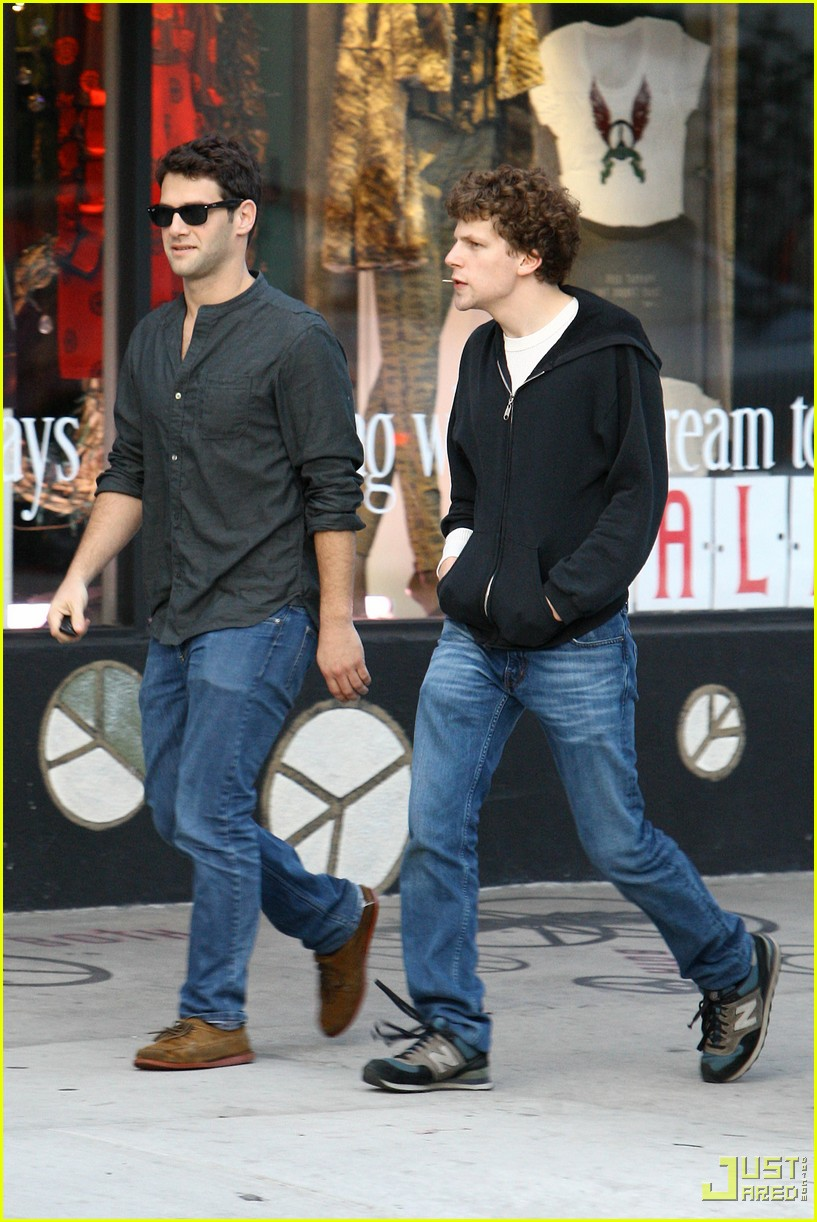 jesse eisenberg justin bartha lunch 012339042
