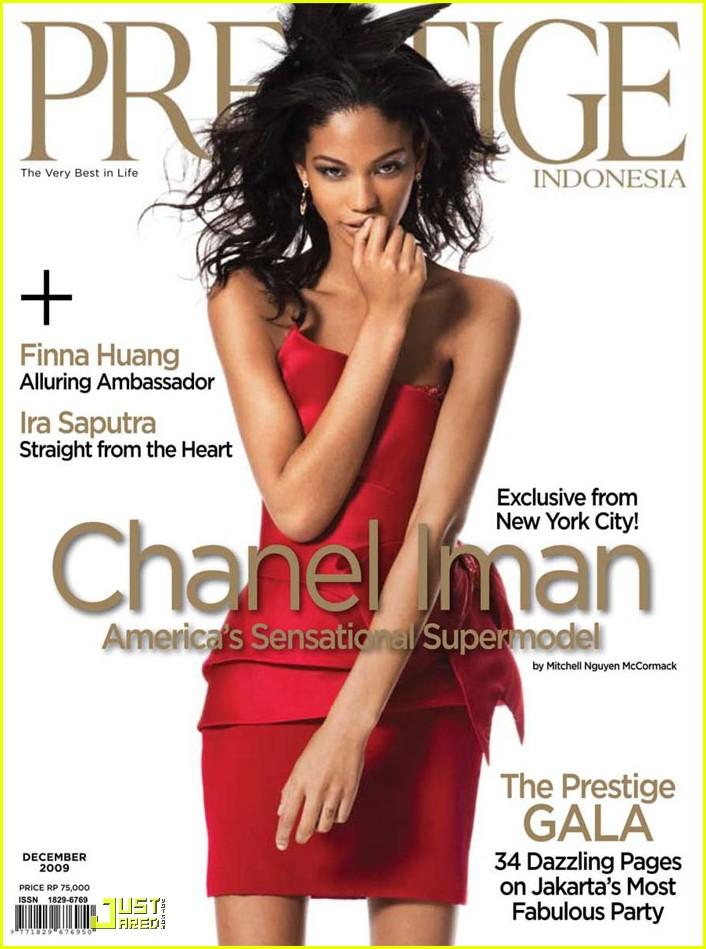 chanel iman prestige magazine cover 012386071