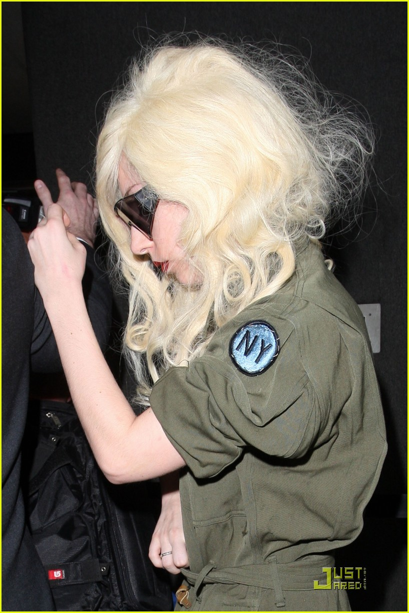 lady gaga lands at lax 022349462