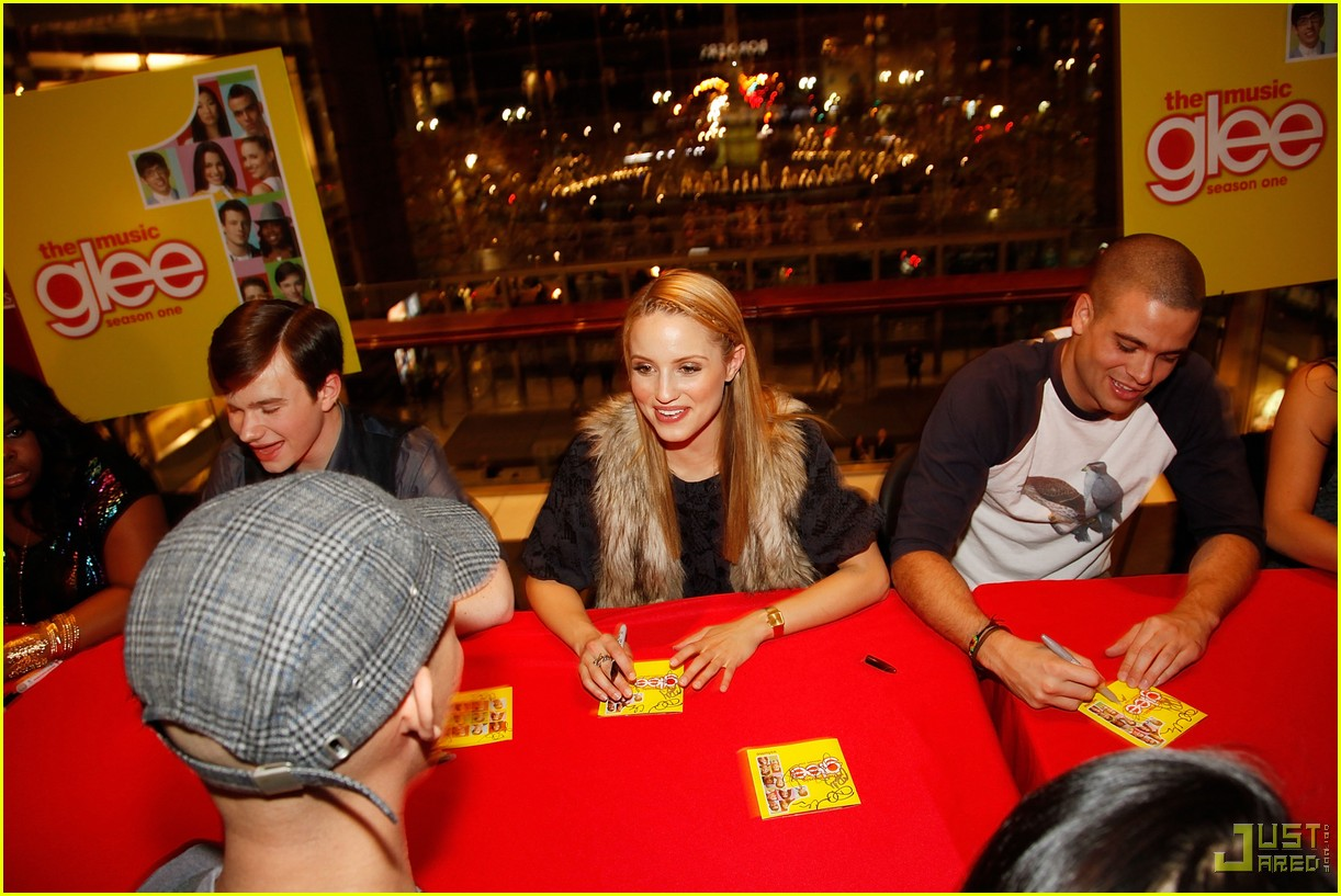glee cast autograph signings 172337472