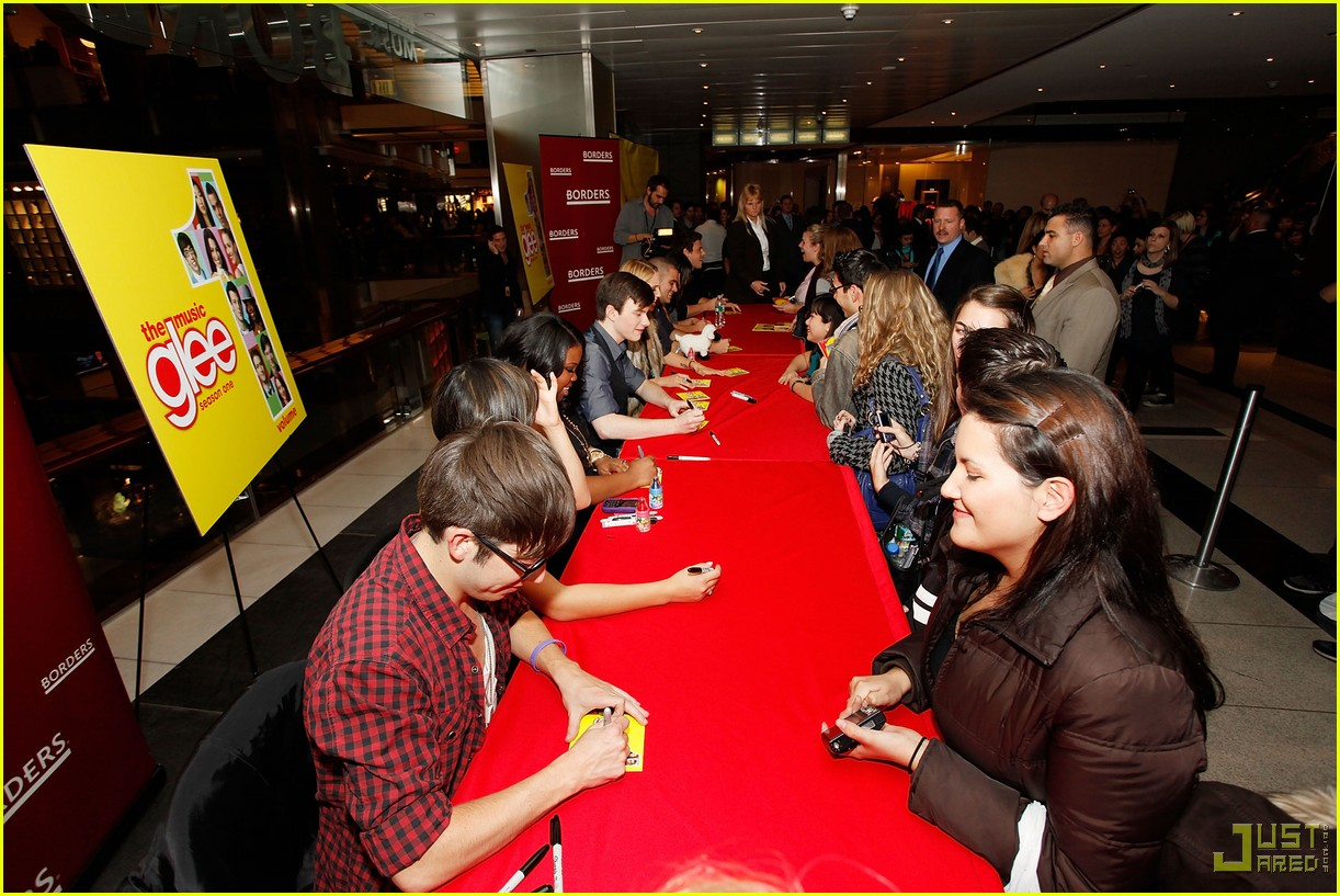 glee cast autograph signings 392337692