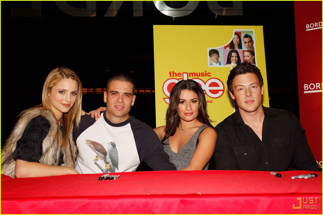 glee cast autograph signings