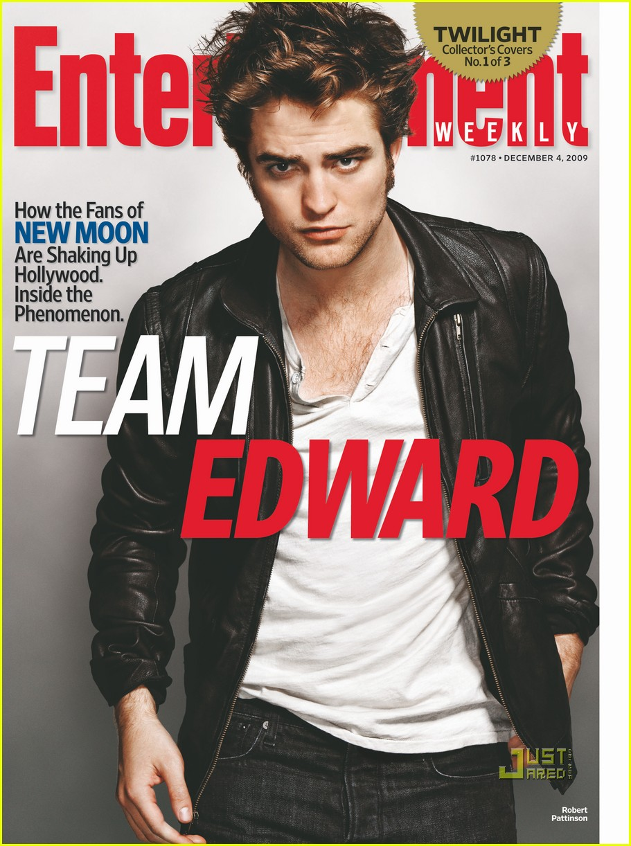 robert pattinson covers entertainment weekly team edward