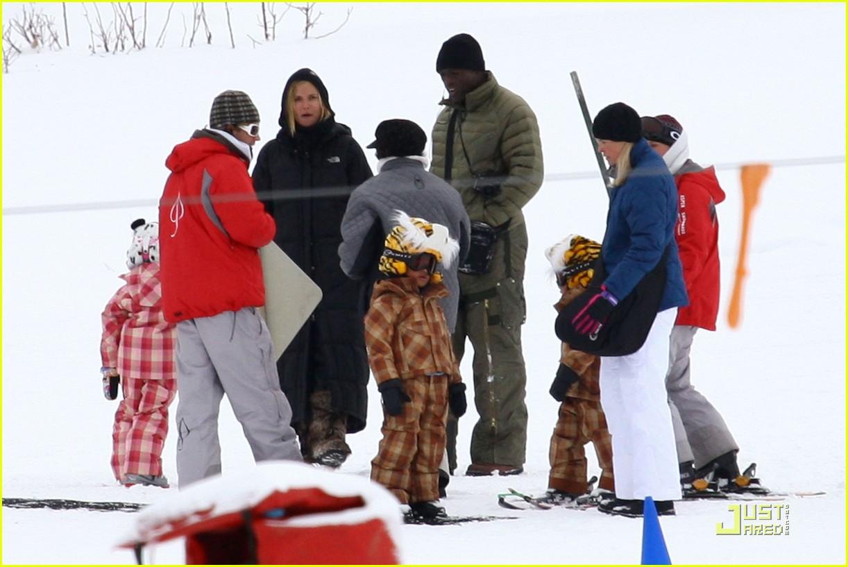 heidi klum seal snowboard lessons 052405193