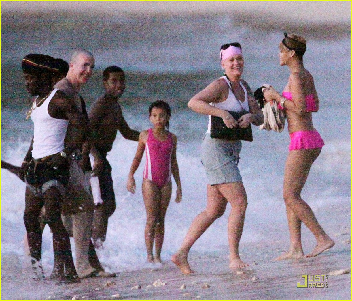rihanna ruffled pink bikini barbados 242404221
