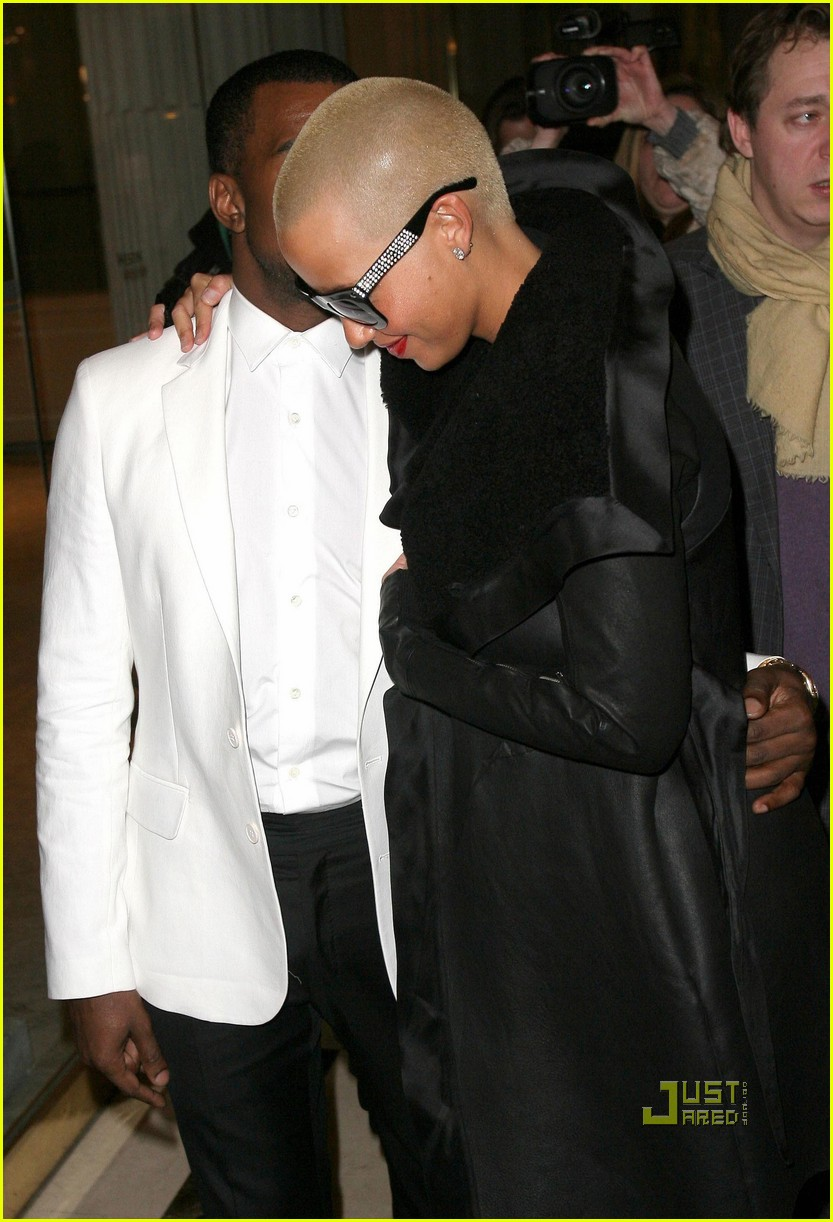 kanye west amber rose givenchy paris fashion week 042411908