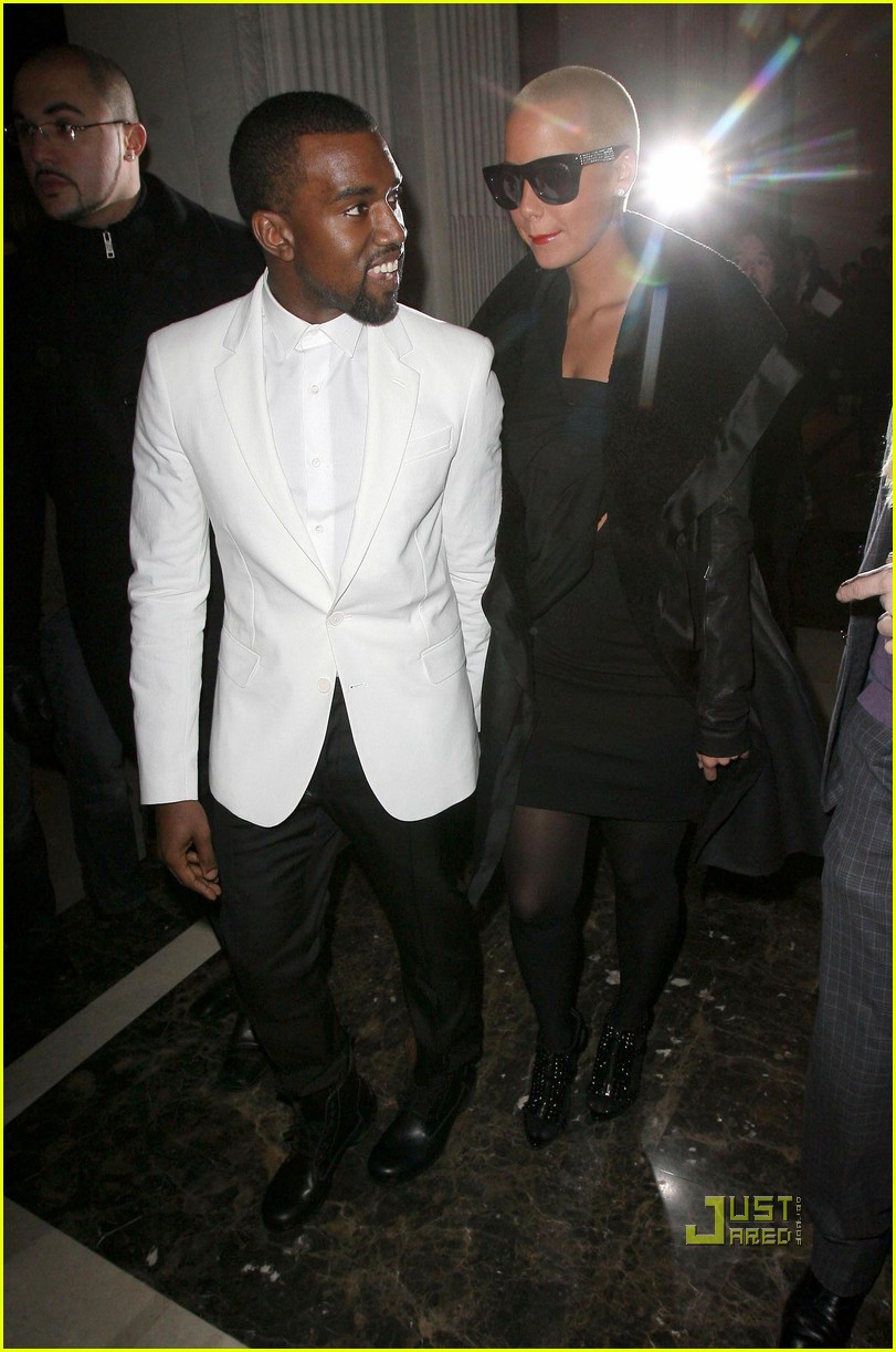 kanye west amber rose givenchy paris fashion week 062411910