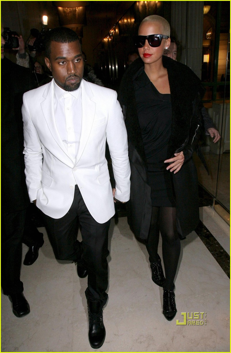 kanye west amber rose givenchy paris fashion week 082411912