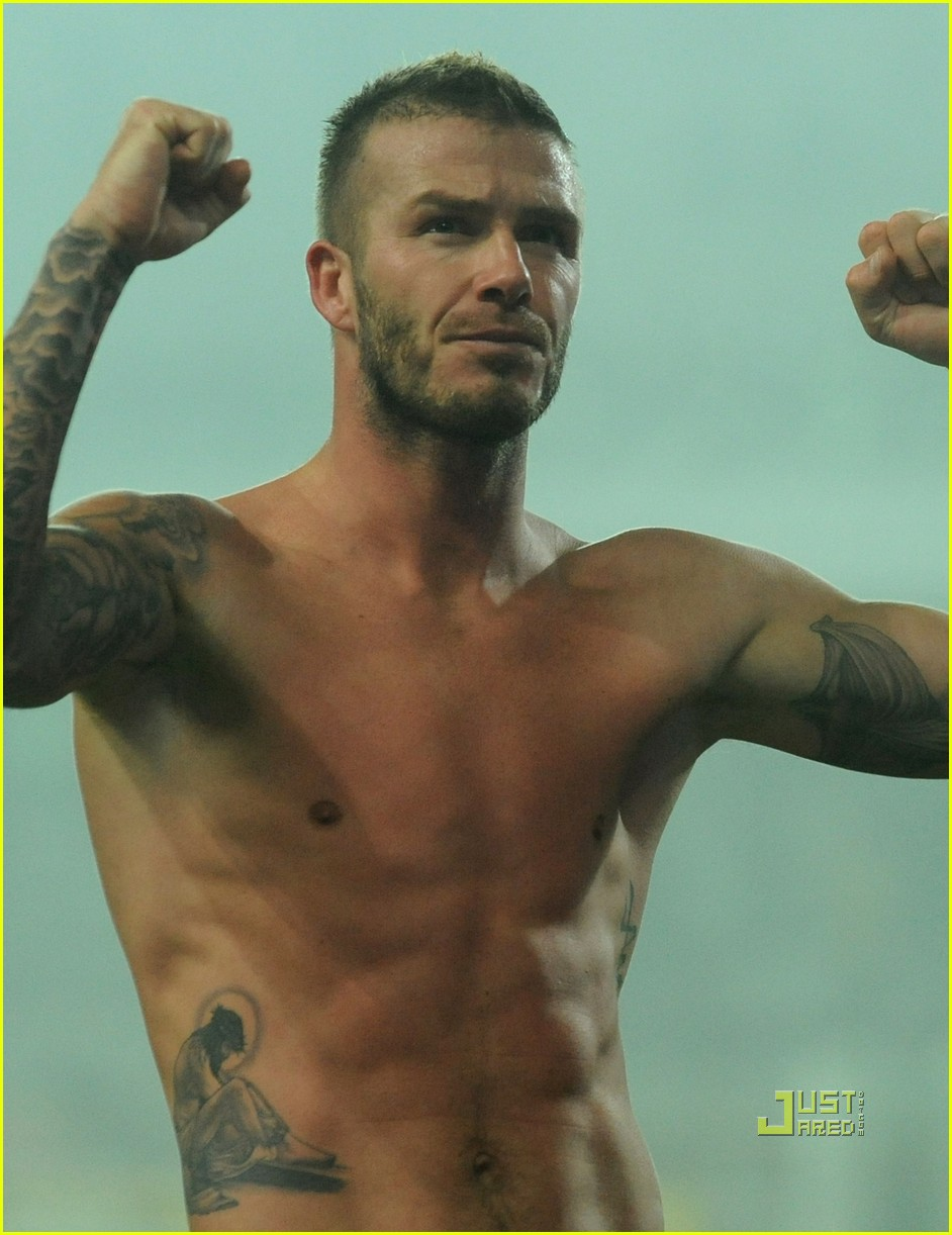 david beckham changing shorts 052407313