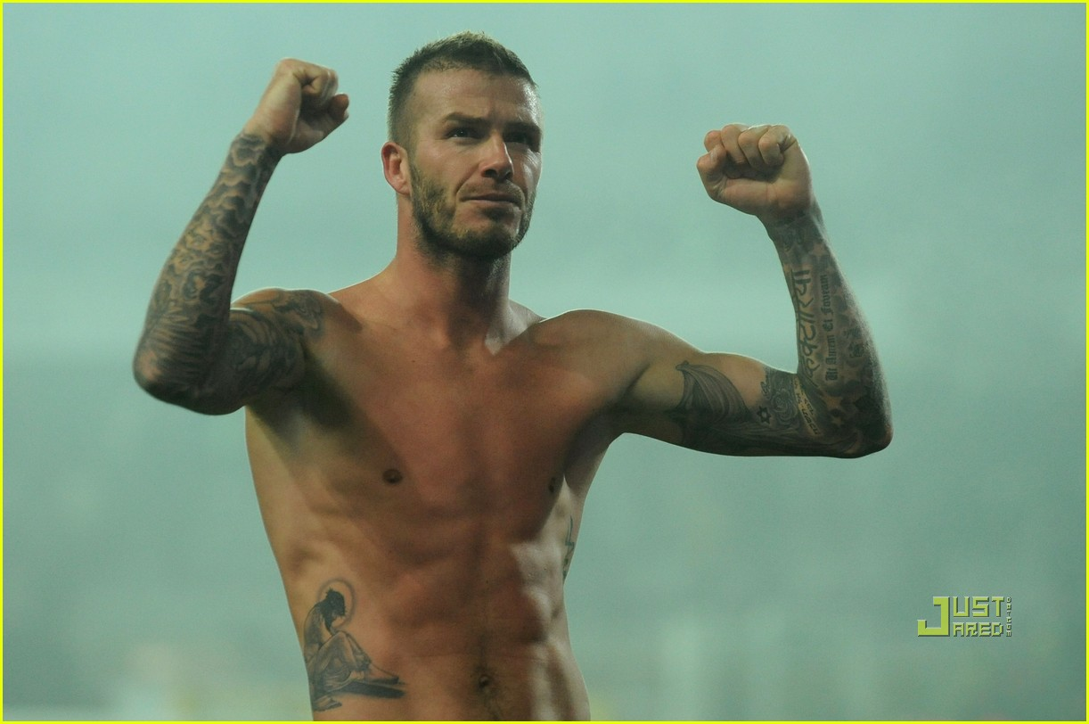 david beckham changing shorts 092407317