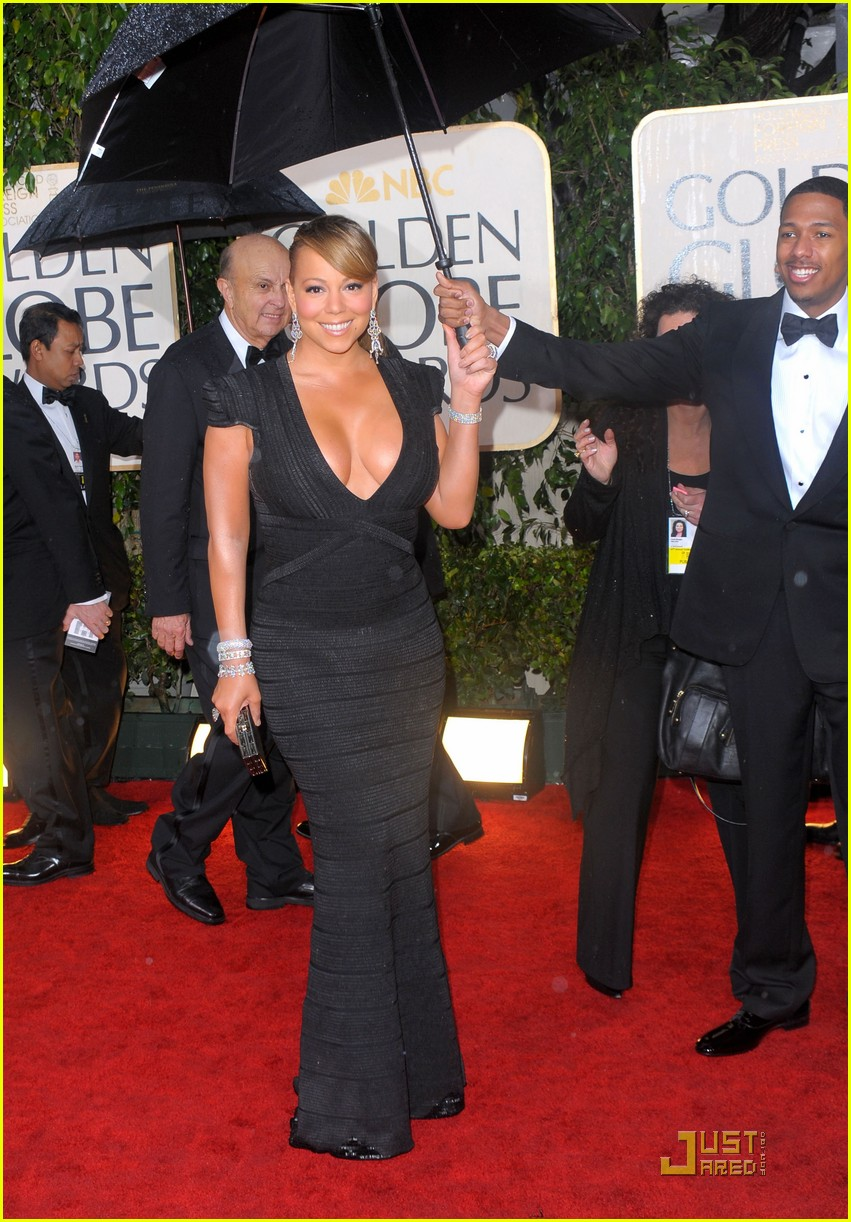 mariah carey 2010 golden globe awards red carpet 10