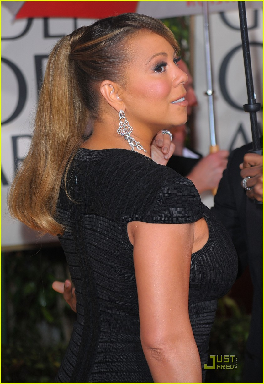 mariah carey 2010 golden globe awards red carpet 112409279