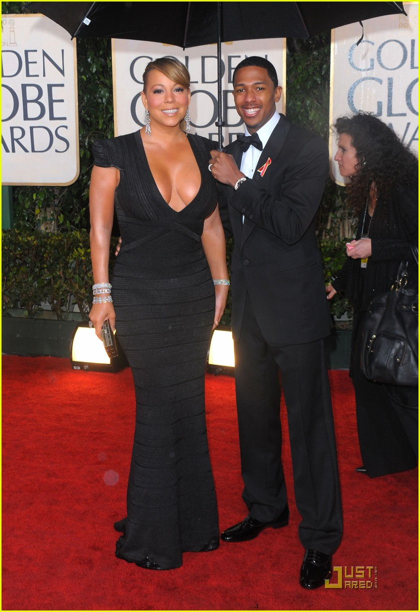 mariah carey 2010 golden globe awards red carpet 122409280