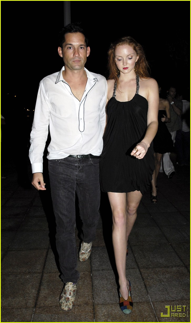 lily cole enrique murciano new years eve st barts 022405677