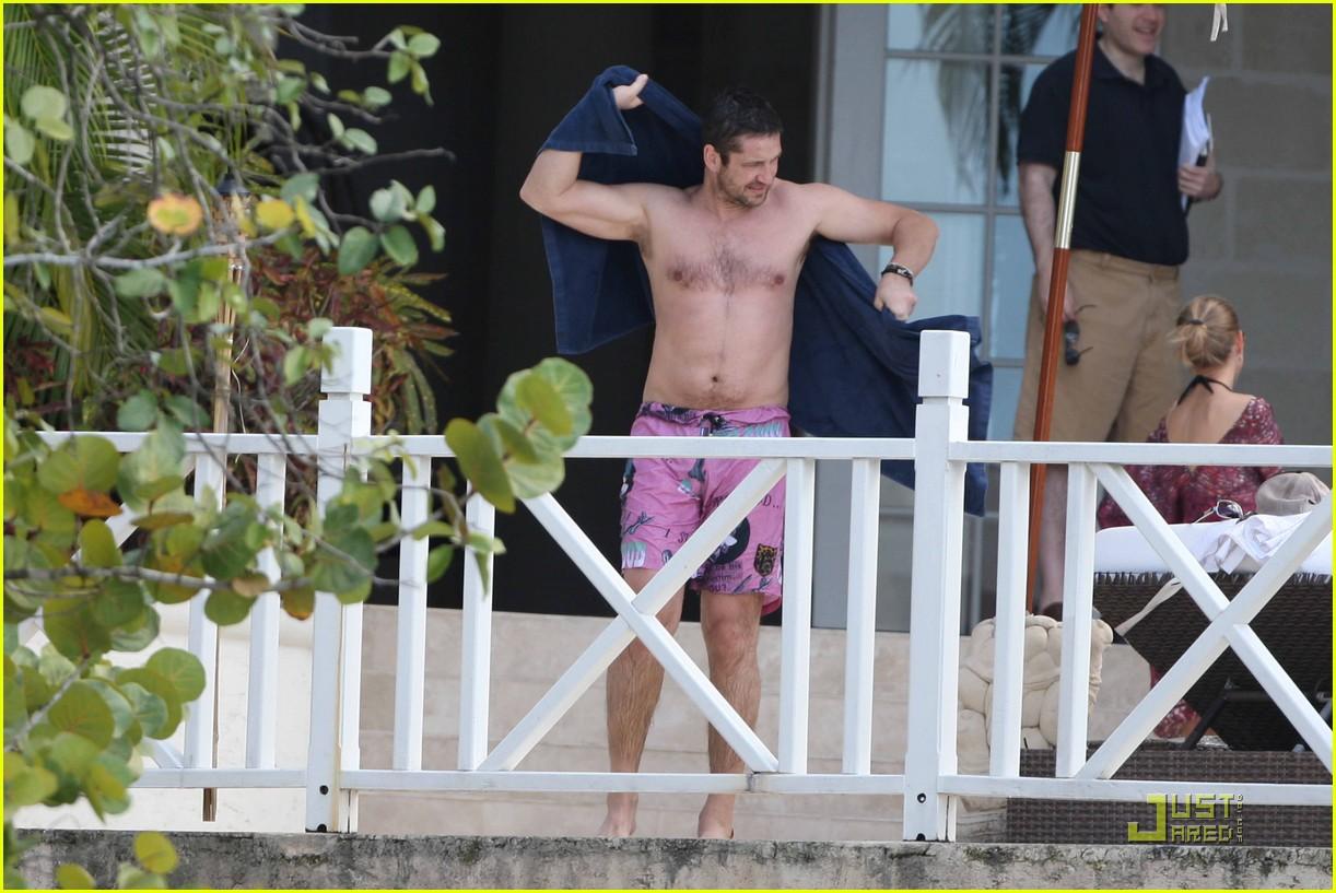 gerard butler shirtless barbados 072405774