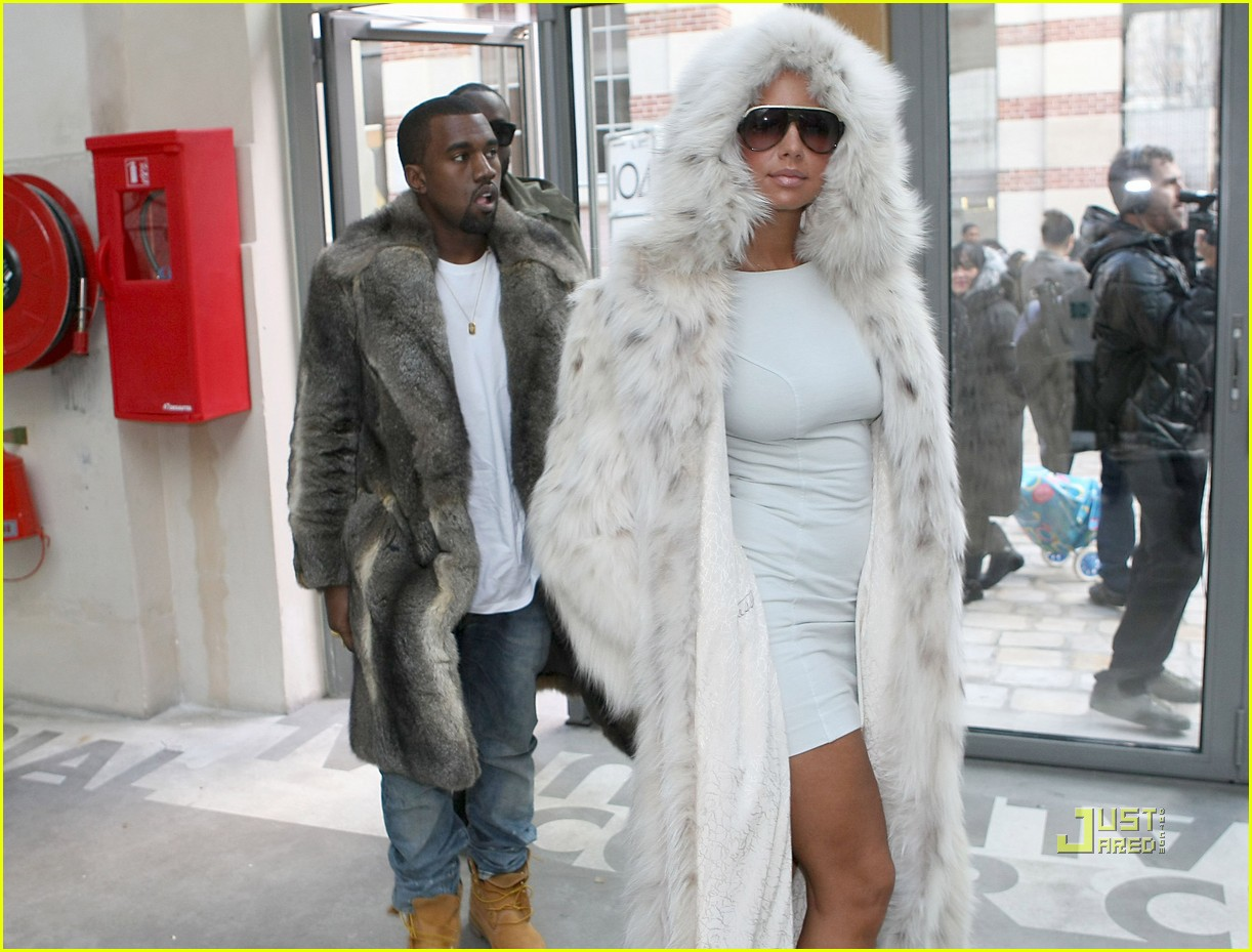 Kanye West & Amber Rose: Fur Coat Couple: Photo 2410617 ...
