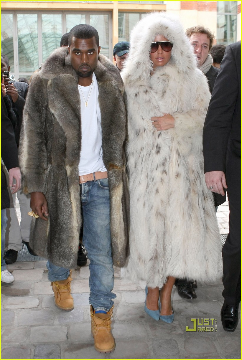 Kanye West & Amber Rose: Fur Coat Couple: Photo 2410610 | Amber