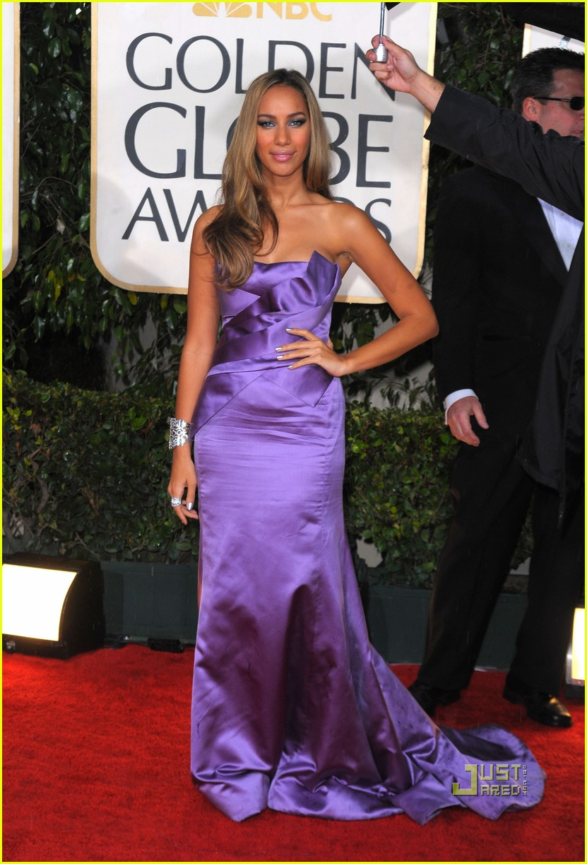 leona lewis 2010 golden globes red carpet 042409138