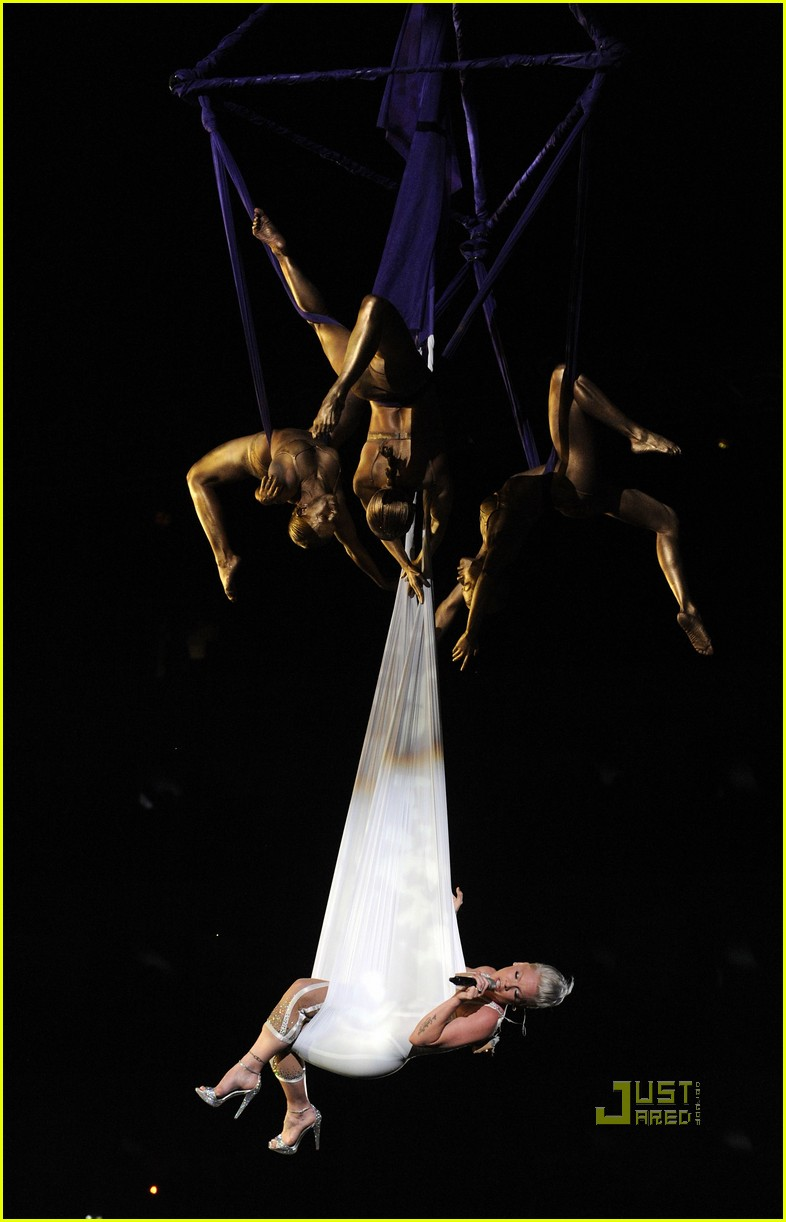 pink naked grammys performance 082413188
