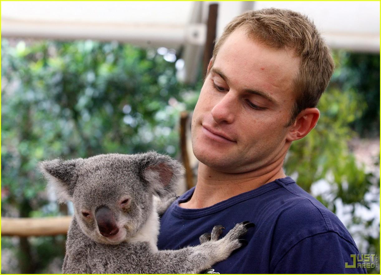 andy roddick brooklyn decker koala couple 09