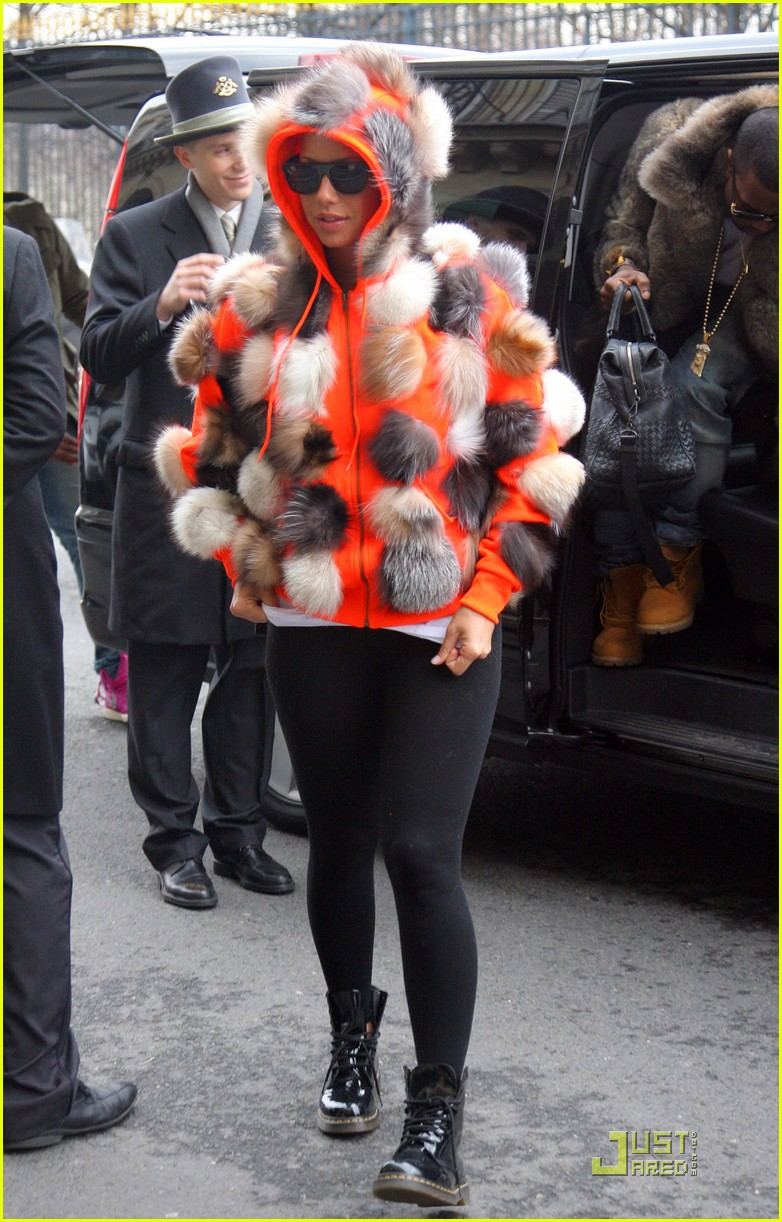 kanye west amber rose fashion furballs 042411533