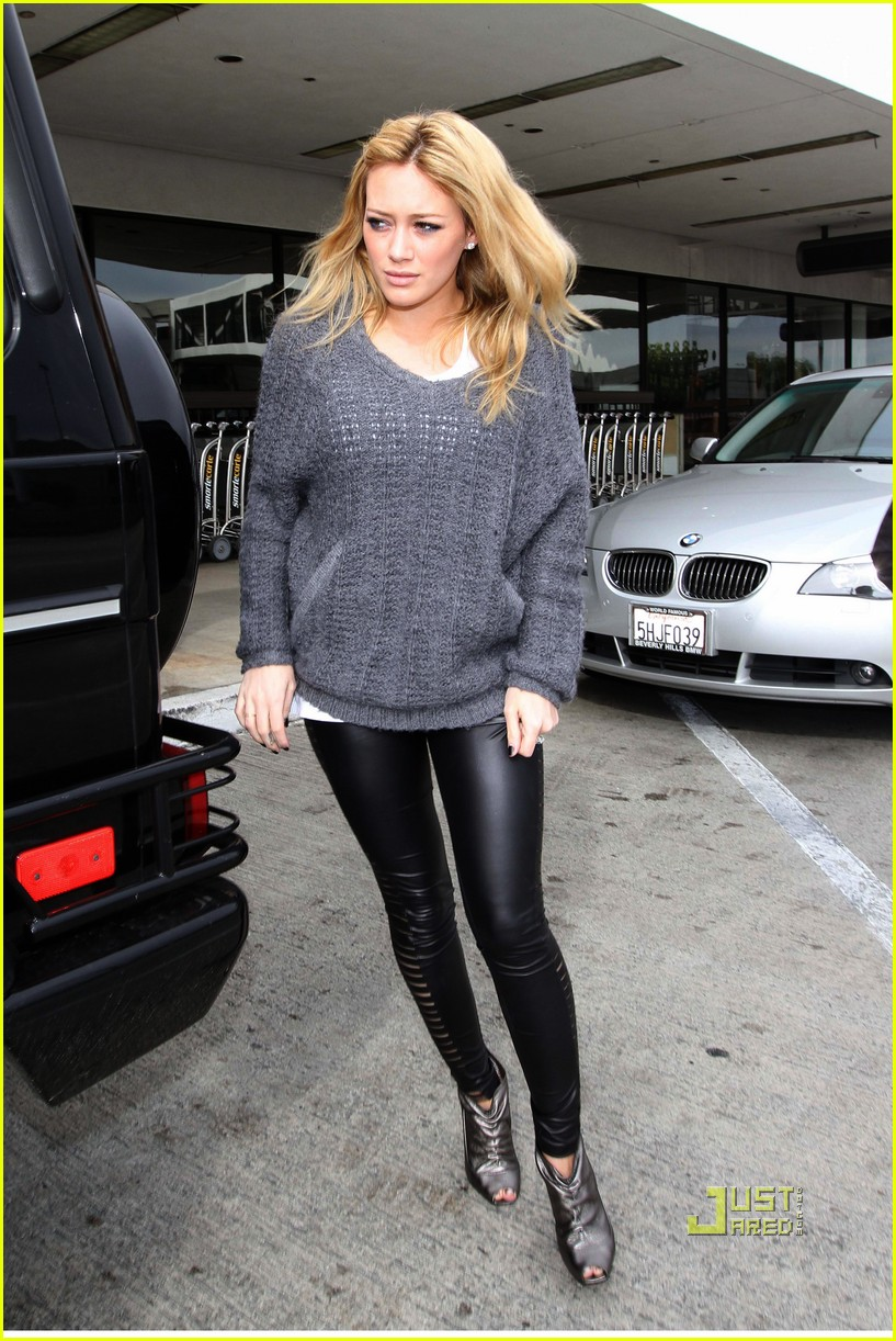 hilary duff mike comrie drop off 062429968