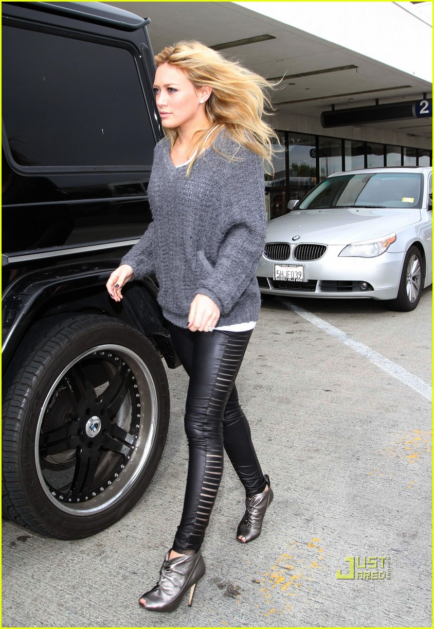 hilary duff mike comrie drop off 07