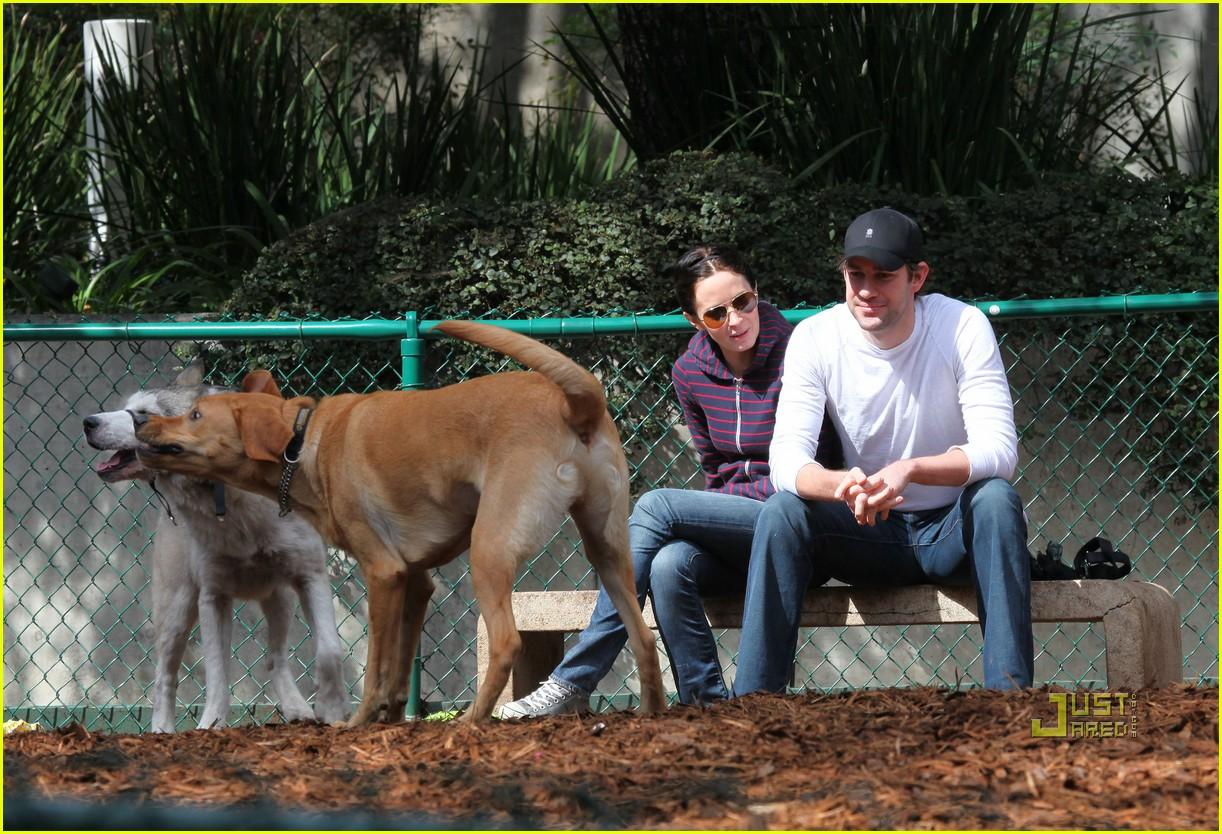 john krasinski emily blunt dog park 052429161