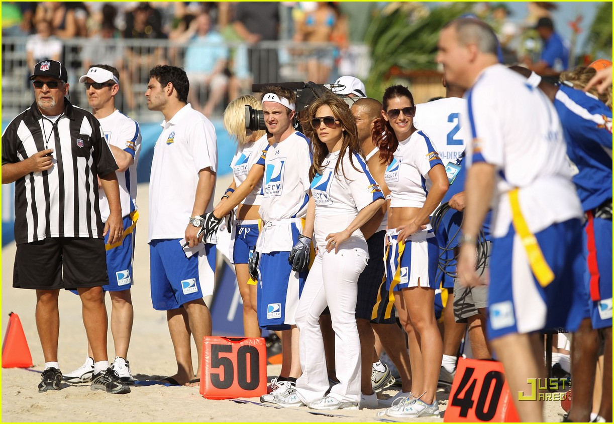 jennifer lopez directv celebrity beach bowl 342425961