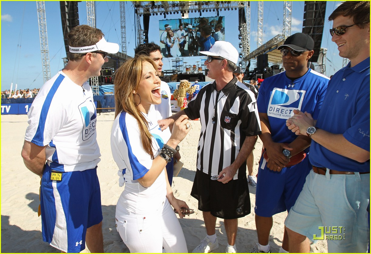 jennifer lopez directv celebrity beach bowl 382425965