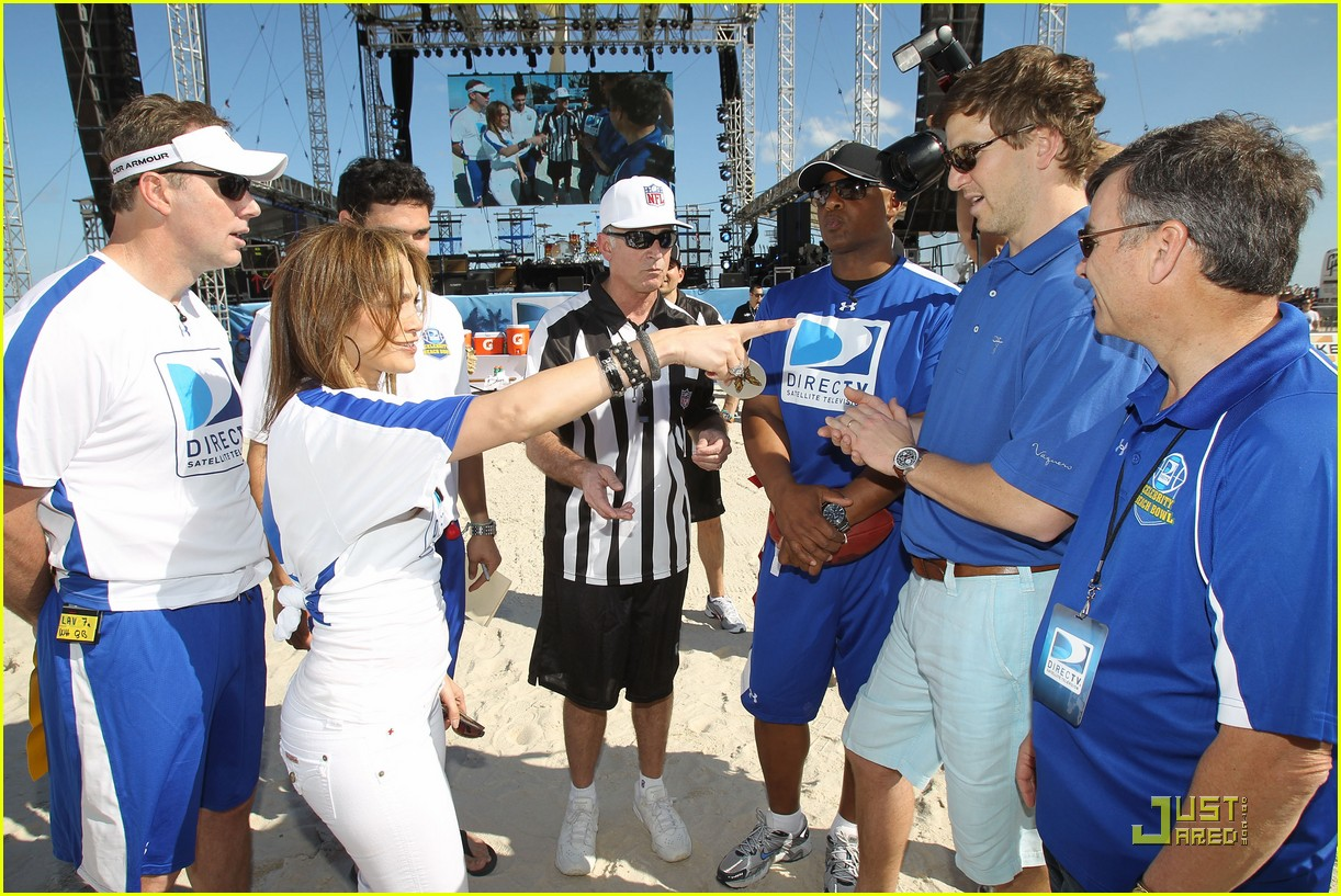 jennifer lopez directv celebrity beach bowl 392425966