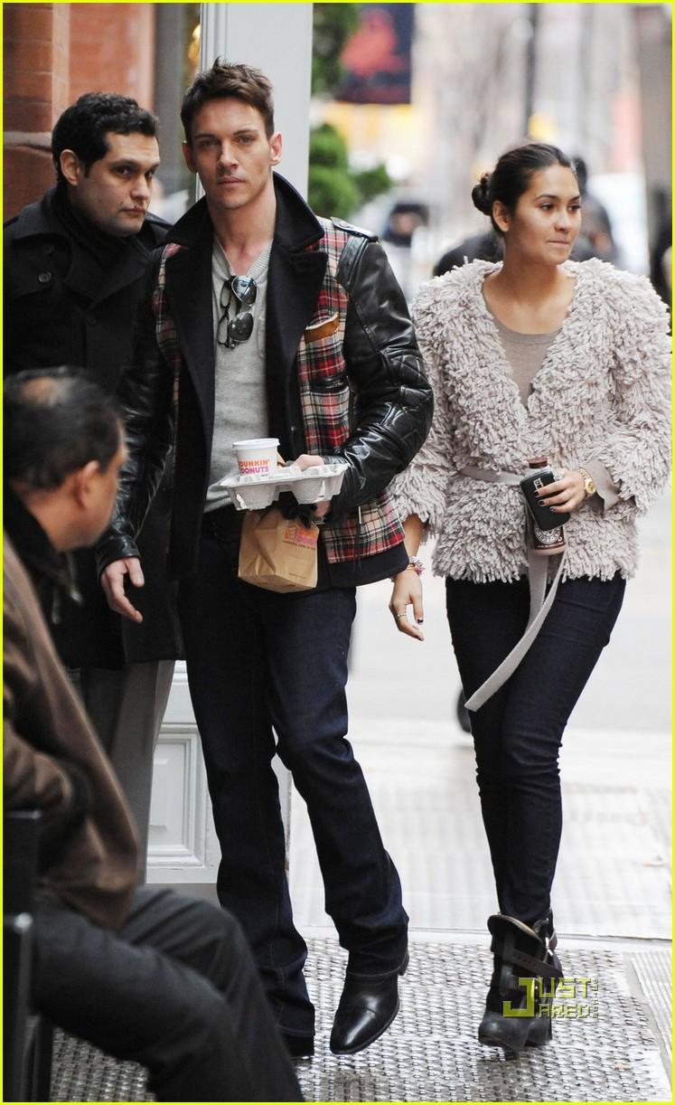 Jonathan Rhys Meyers & Reena Hammer Run On Dunkin: Photo ...