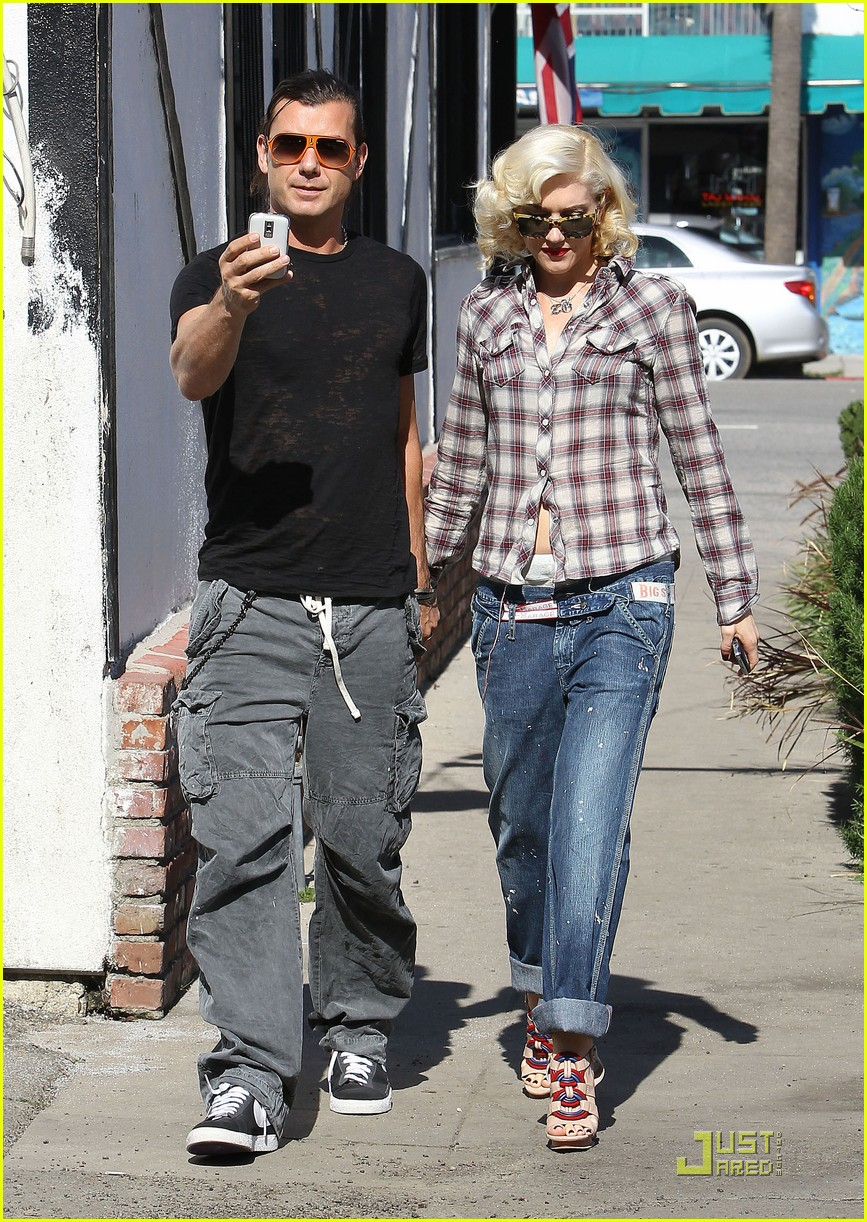 gwen stefani rossdale lunch lovebirds 17
